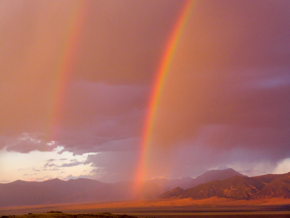 double rainbow in the Madison River Valley, Mt.