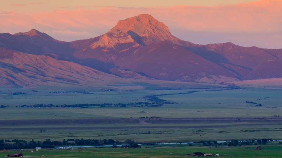 Madison River valley sunset