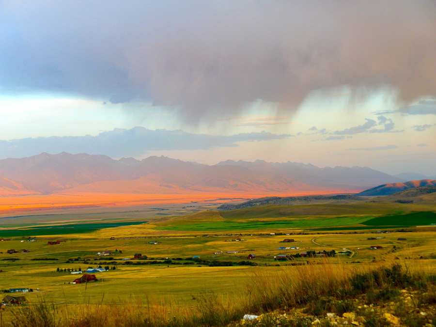 Madison River valley rainstorm