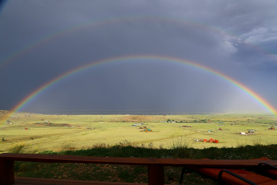 Madison River Valley, with double rainbow