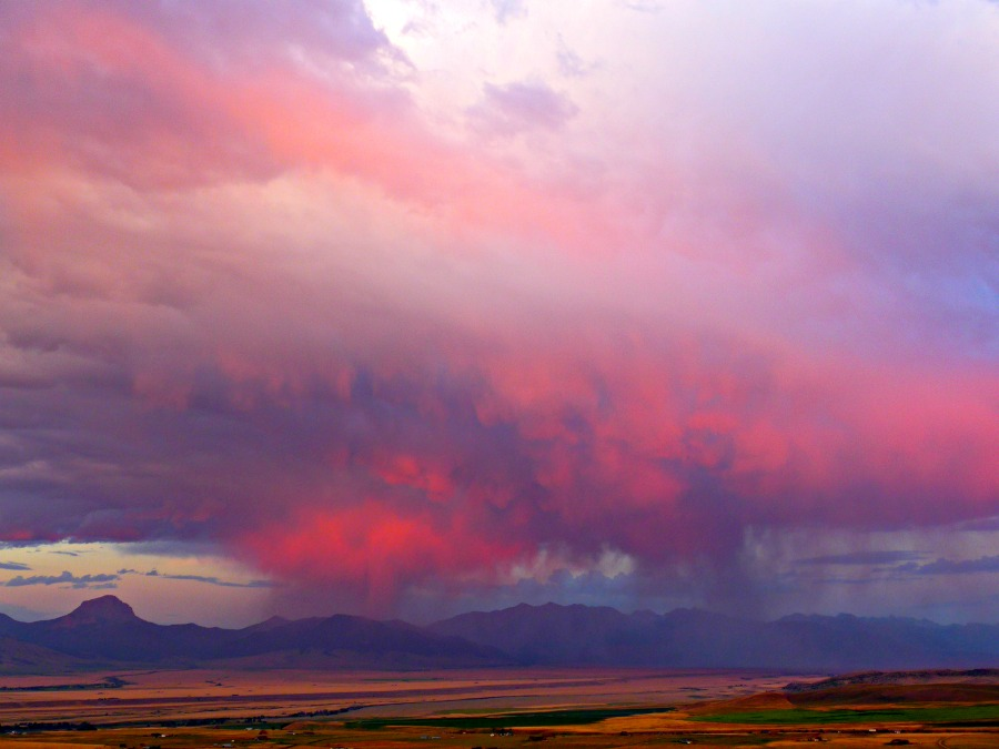 sunset storm in the Madison Valley