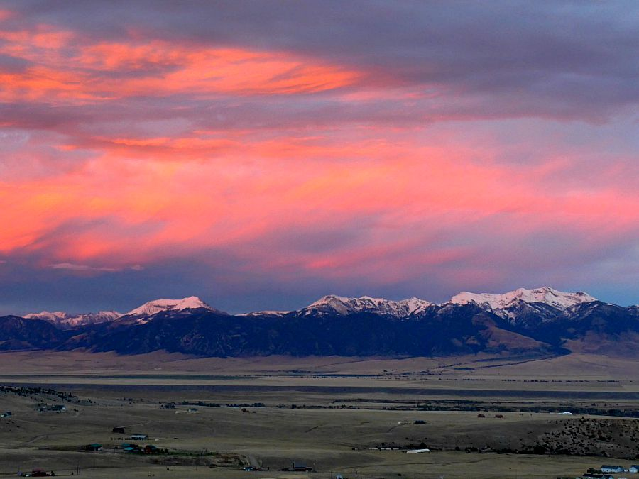 Madison River Valley at sunset