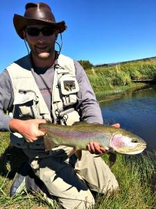 Matt with a rainbow trout