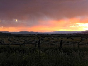 Jefferson River Valley, Mt., sunset