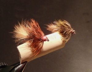 ten trout flies