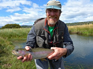 Al with a rainbow trout